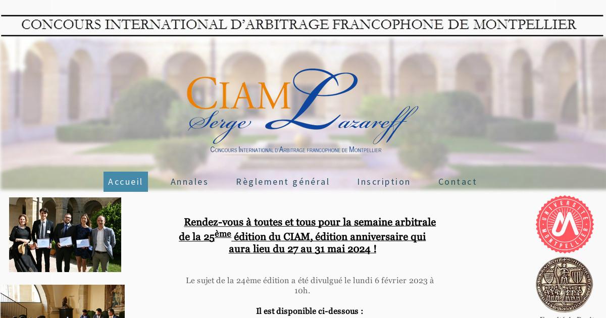 ciam concours international d 39 arbitrage francophone de. Black Bedroom Furniture Sets. Home Design Ideas
